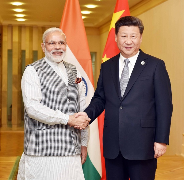 Xi Jinping and Narendra Modi in 2014